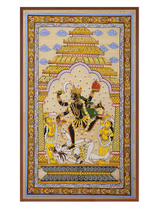 Maa Kaali Pattachitra on Silk 32.5in x 20.5in