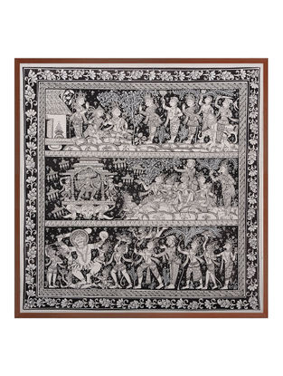 Ramayana Katha Pattachitra on Patta 22in x 22in