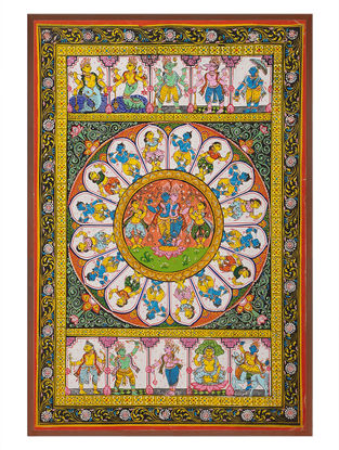 Krishna Dashavtar Pattachitra on Patta 21in x 15in