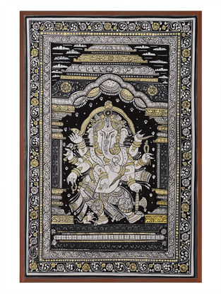 Ganesha Pattachitra on Patta 21in x 15in