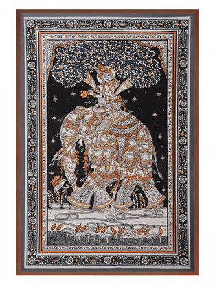 Krishna Pattachitra  on Patta 21in x 15in