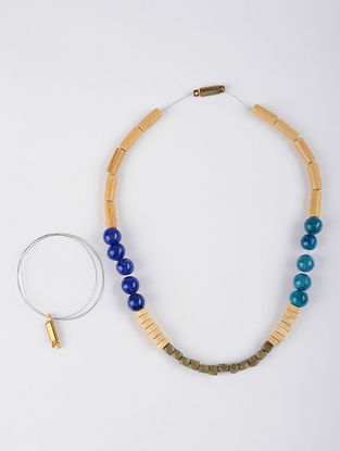 Necklace, Bracelet DIY Kit with Terracotta and Dokra Beads