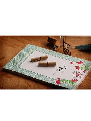 Mint Green-Pink Jaali Notepad