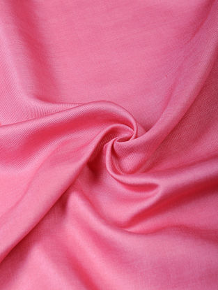 Pink Handloom Silk Cotton Fabric