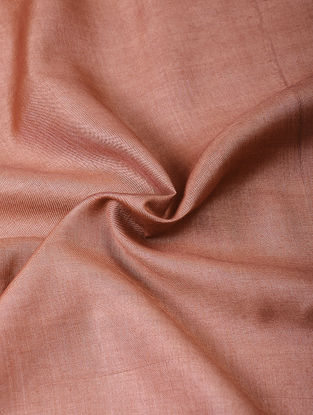 Old Rose Handloom Silk Cotton Fabric