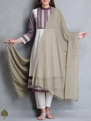 Kashish Tassel Detail Cotton Handloom Dupatta by Jaypore