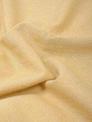 Yellow Cotton Khadi Fabric