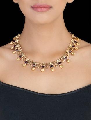 Floral Kantha Silver Necklace