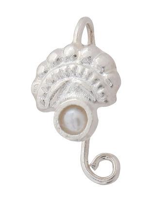 Classic Pearl Silver Nose Clip