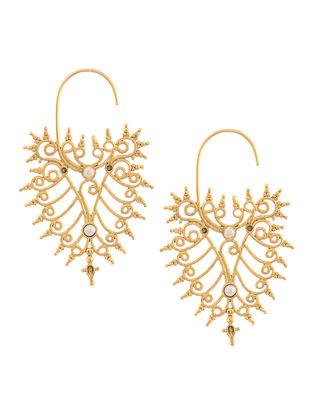 Pearl Gold Tone Silver Earrings