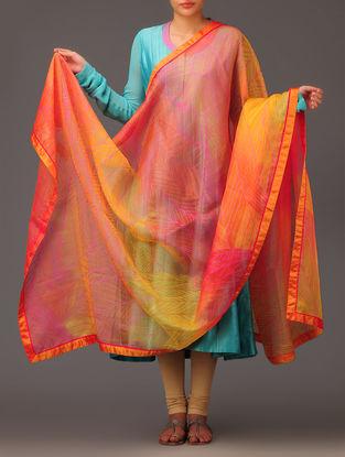 Saffron Leaf Silk Dupatta