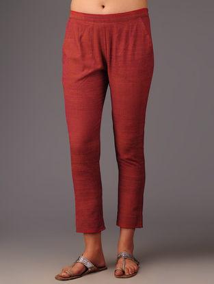 Rust Cotton Pants