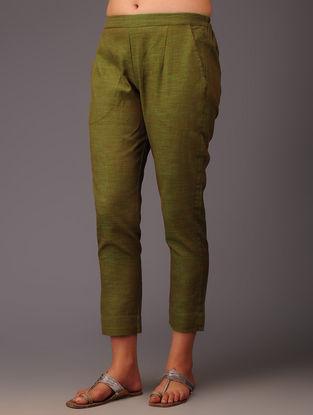 Olive Cotton Pants