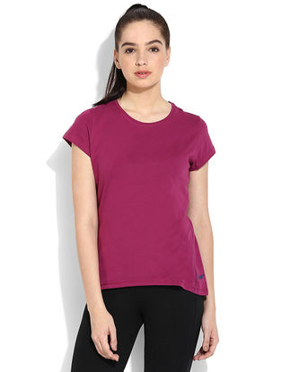 Pink Organic Cotton Yoga Tops