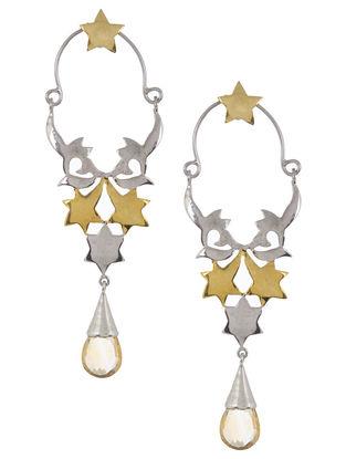 Mughal Jali Conical Silver Earrings