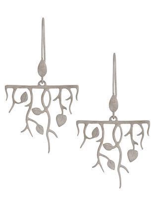 Leaves & Twigs Silver Earrings