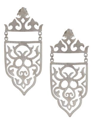 Mughal Jali Silver Earrings