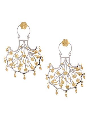 Mughal Jali Pankhi Silver Earrings