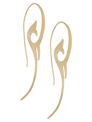 Bloom Within Golden Silver Earrings