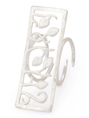 Leaves & Twigs Silver Ring