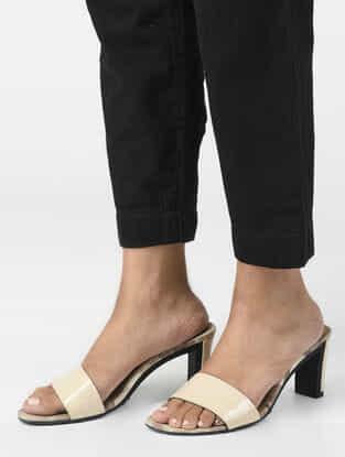 Black Elasticated Waist Linen Pants