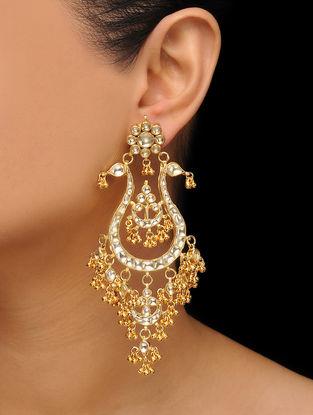 Gold Plated Kundan Inspired Earrings