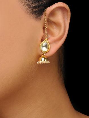 Gold Plated Kundan Inspired Jhumkas