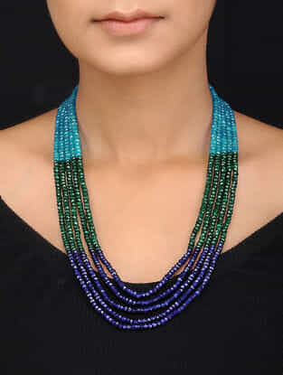 Blue Multistrand Necklace