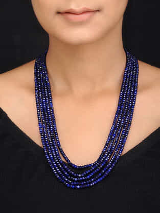 Blue Quartz Multistrand Necklace