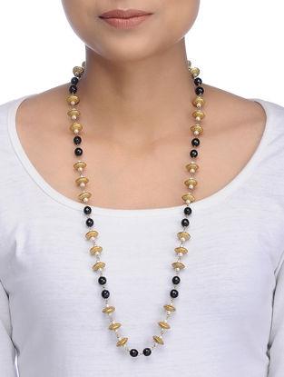 Black Gold Tone Onyx Necklace