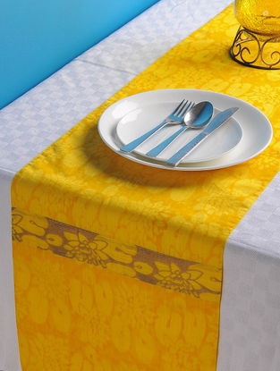 Yellow-Golden Lotus Table Runner 72in x 13in