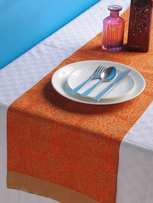 Orange-Golden Dahlia Table Runner 45in x 13in
