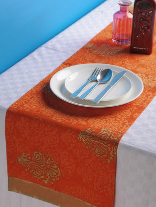 Orange-Golden Floral Table Runner 44.5in x 13in