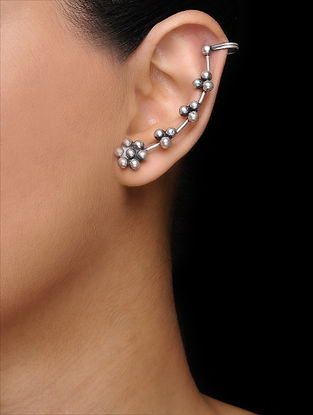 Tribal Silver Ear Cuffs (Set of 2)