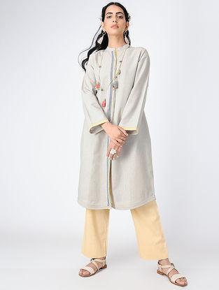 Grey Button-up Handloom Khadi Tunic