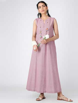 Pink Cotton Maxi Dress
