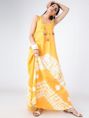 Yellow Shibori Cotton Dress
