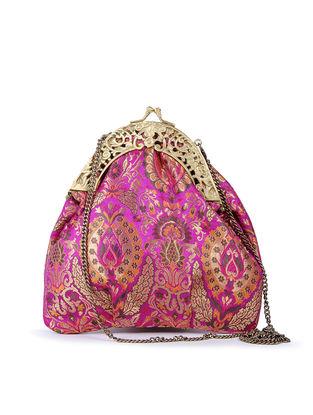 Pink Floral Handcrafted Brocade Batuwa