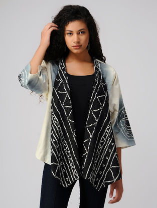 Black-Ivory Tie and Dye Cotton Jacket