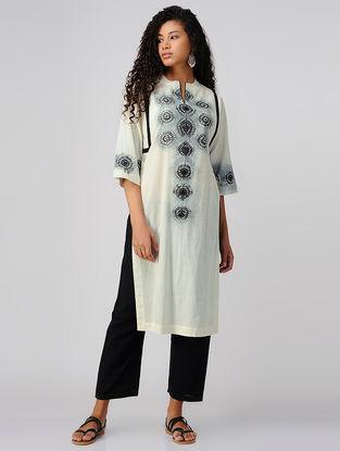 Black-Ivory Tie and Dye Cotton Kurta
