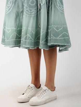 Aqua Elasticated Waist Tie-Dye Cotton Skirt