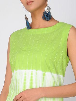 Green Shibori Cotton Kurta