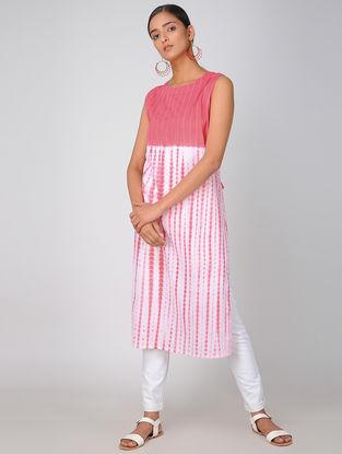 Pink Shibori Cotton Kurta