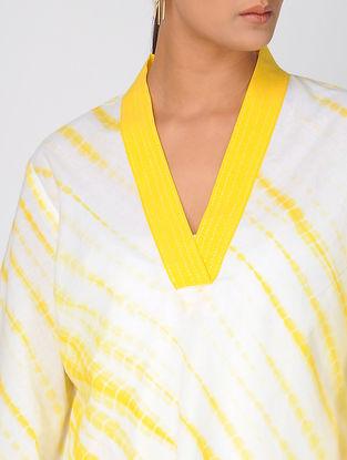 Yellow Shibori Cotton Top