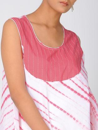 Pink Shibori Cotton Top