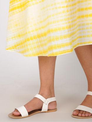 Yellow Shibori Cotton Wrap Around Skirt