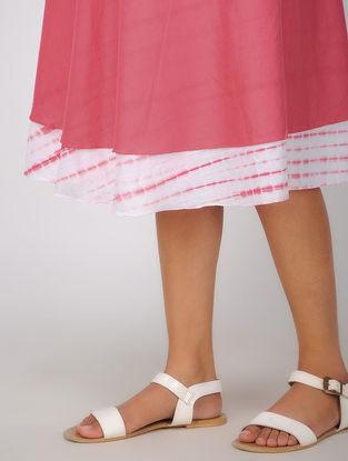 Pink Shibori Cotton Wrap Around Skirt