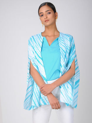 Turquoise Shibori Cotton Top