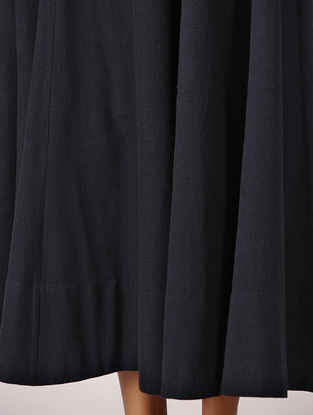 Black Elasticated Waist Cotton Skirt
