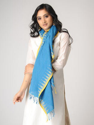 Blue-Yellow Cotton Stole